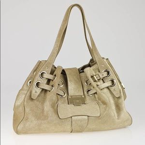 Jimmy Choo Metallic Ramona Tote Bag - NEVER used